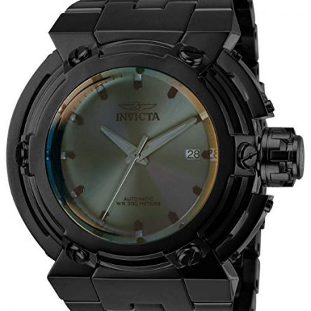 Invicta Men's I- I-Force Automatic-self-Wind Stainless-Steel Strap, Black, 34 Casual Watch